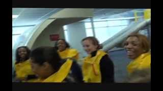 AirTran Flight Attendant Training - Ditching the plane in water