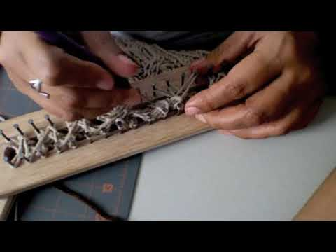 Bufanda con trenza en telar/Long Loom /Double rake Scarf with cable , YouTube