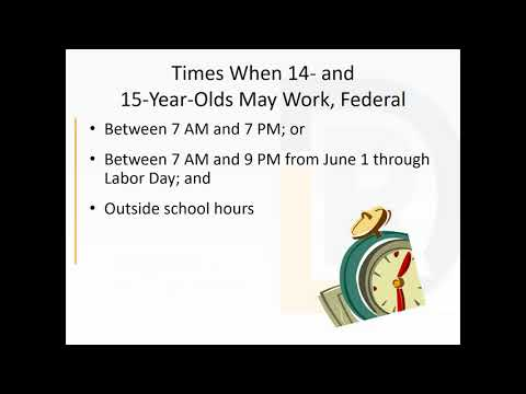 Youth Employment Laws 2018 June 19