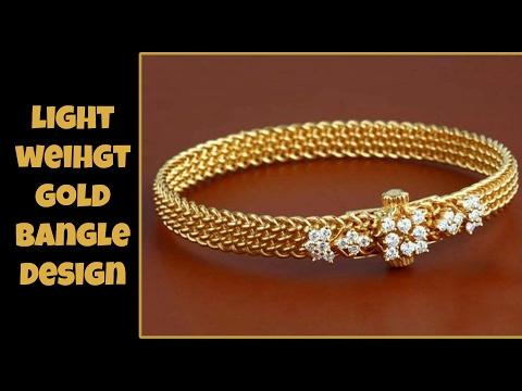 Light Weight Gold Bangle Designs