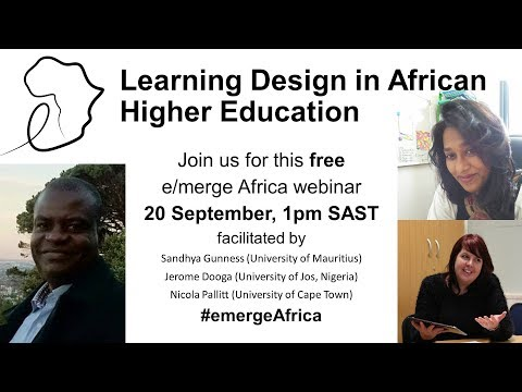 Learning design in African Higher Education