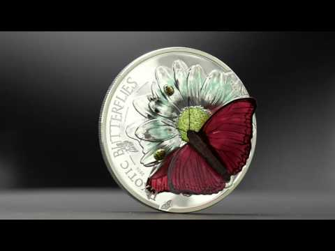 Beautiful butterfly coin made with smartminting technology - 27571 CIT