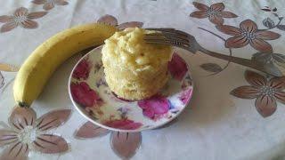 как сделать банановый кекс за 5 минут