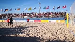 Смотреть видео Всемирные пляжные игры. Россия - Испания. Золотой гол Макарова онлайн