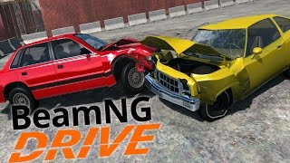 BeamNG.Drive  -  Scenarios - Demolition Derby / Jump Derby (Car Crashes & More!)