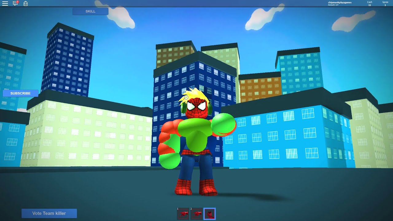Chipmunk Family Spiderman Roblox Games