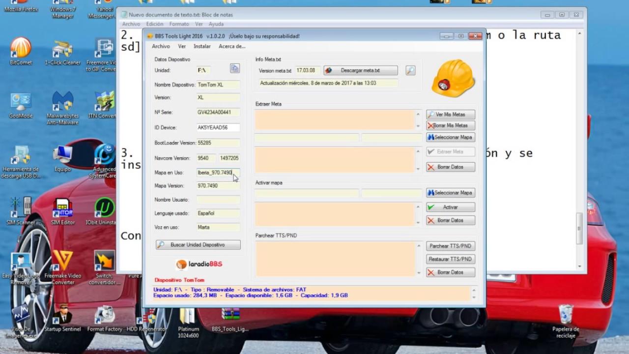 Tutorial TOMTOM-Actualizar mapas Iberia 970_7490 , radares , voces ,  descargar por MEGA