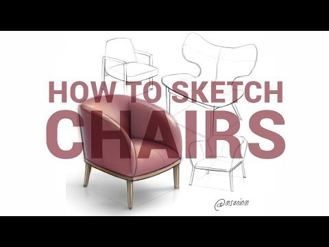 Chairs sketching and rendering timelapse
