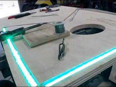 Part1 - DIY - Lighted Cornhole Boards - Redneck Style !