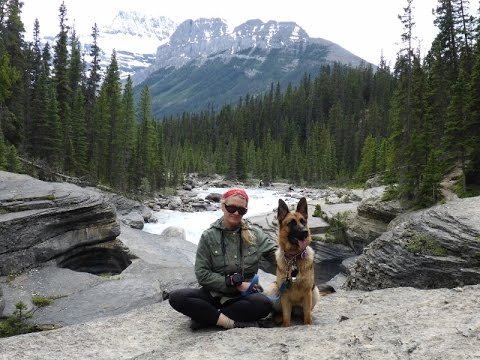 HIKING TO A CANYON WITH OUR GERMAN SHEPHERD