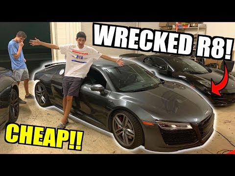 I Bought a WRECKED Audi R8 V10 From Auction Super CHEAP! Time To Rebuild!!