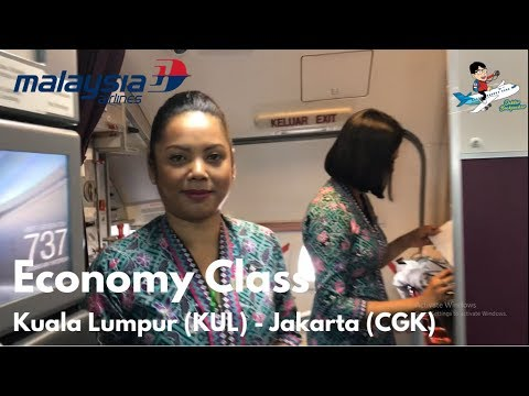 Flight Vlog with Malaysia Airlines MH 717 Kuala Lumpur (KUL) - Jakarta (CGK) B737-800NG