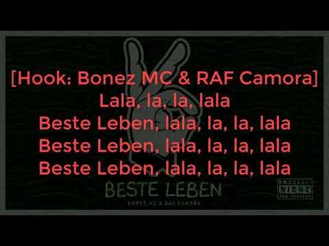 BONEZ MC & RAF CAMORA - BESTE LEBEN LYRICS