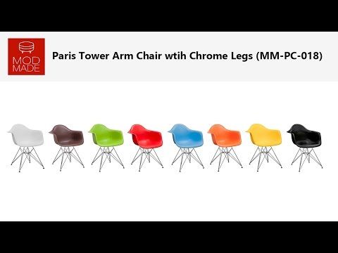 Paris Tower Arm Chair wtih Chrome Legs Product Introduction & Assembly Tutorial