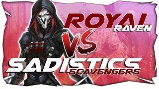 Scrim opposant les Sadistics Scavengers contre les Royal Raven !