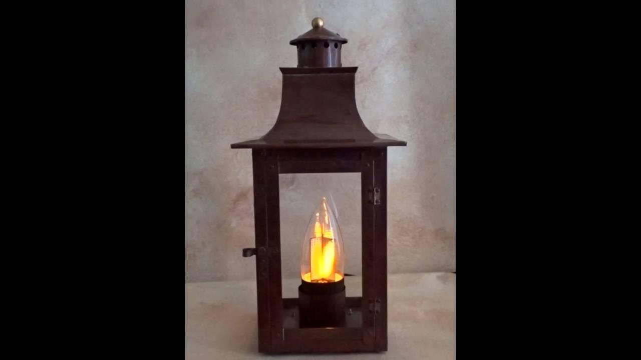 Flame Bulb In Lantern Youtube