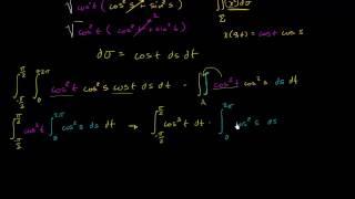 التكامل السطحي مثال (جزء 3)