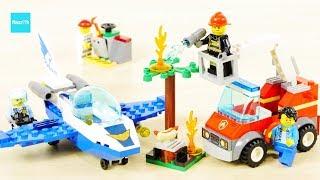 レゴ シティ ポリス ジェットパトロール 60206 バーベキューの火事 60212 / LEGO City Sky Police Jet Patrol & Barbecue Burn Out