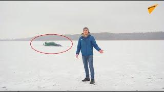 200 tys. zł pod lodem: Blogerzy utopili samochód sportowy Nissan 350Z