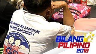 Pamamahagi ng t-shirts na may logo ni Bong Go, kinuwestyon