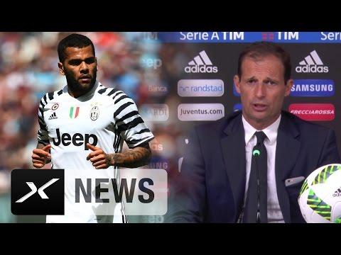 Massimiliano Allegri rügt Dani Alves: In Italien läuft es anders | Juventus Turin - AC Florenz 2:1