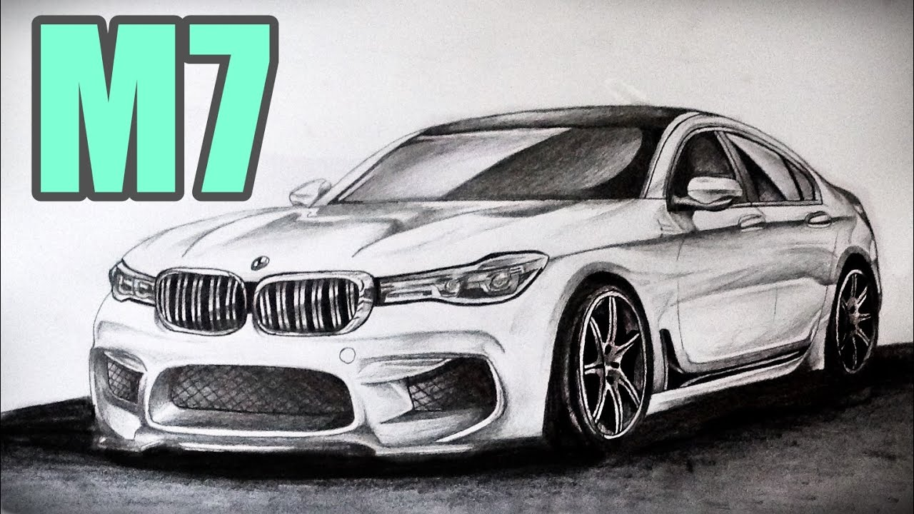 Drawing 2017 BMW M7 G11 12