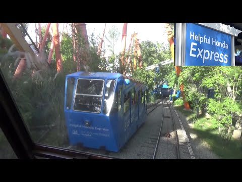 On Ride POV Helpful Honda Express / Orient Express / Funicular Six Flags Magic Mountain