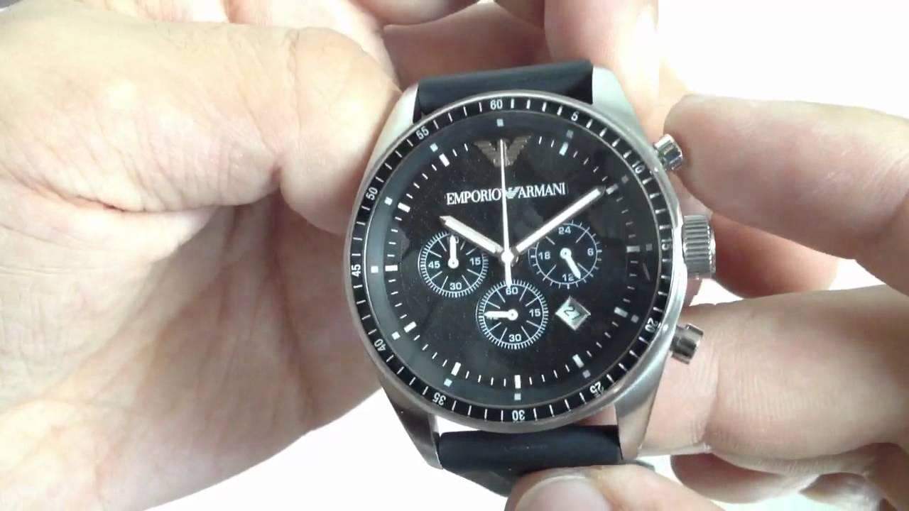 men s emporio armani black rubber strap chronograph watch ar0527 men s emporio armani black rubber strap chronograph watch ar0527
