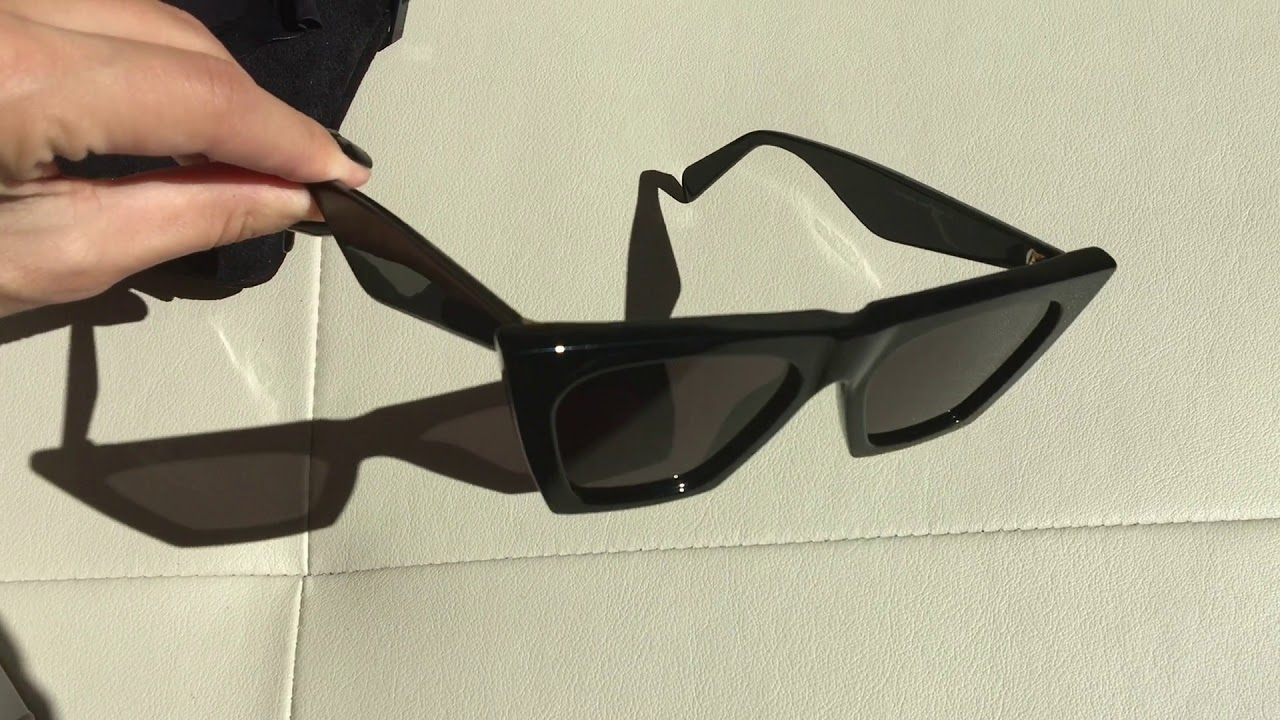 b925ab378c CELINE Edge Sunglasses Unboxing - YouTube