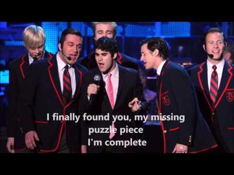 Teenage Dream - Glee With Lyrics