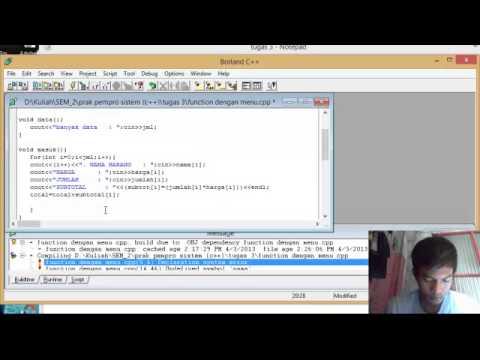fungsi function dengan menu di c++