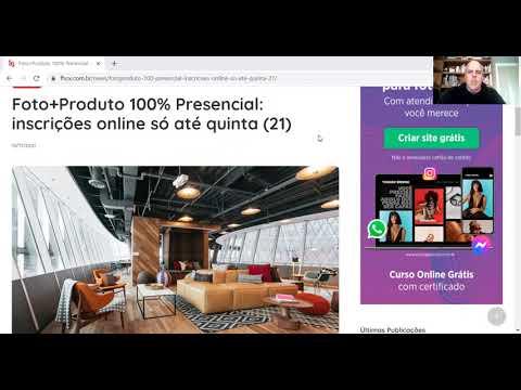 Foto+Produto 100% Presencial: inscrições online só até quinta (21)