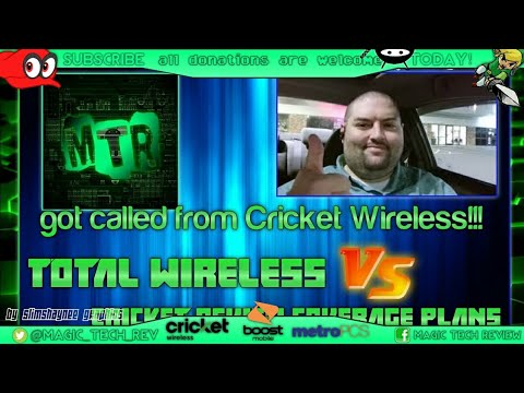 Cricket Wireless Called Me Today..Total Wireless VS Cricket Review Coverage plans data Feat CV Tech