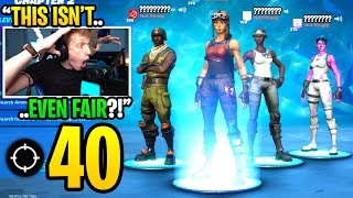 We made a squad with FAMOUS youtubers and got 40 KILLS in Fortnite... (insane)