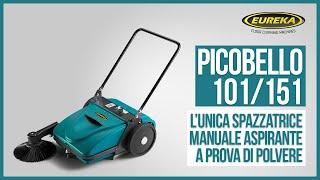 Picobello - Spazzatrice Manuale Aspirante a Spinta | Eureka - spazzatrci professionali