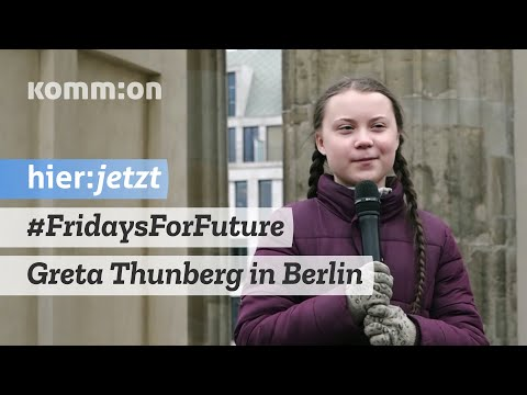 Greta Thunberg beim Klimastreik Berlin