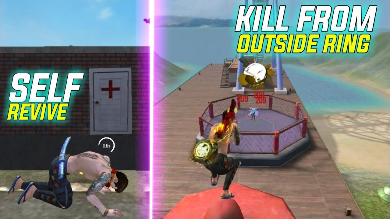 Free Fire Self Revive Trick 2021 | Kill Enemies Inside Boxing Ring With Gun | Free Fire New Tricks