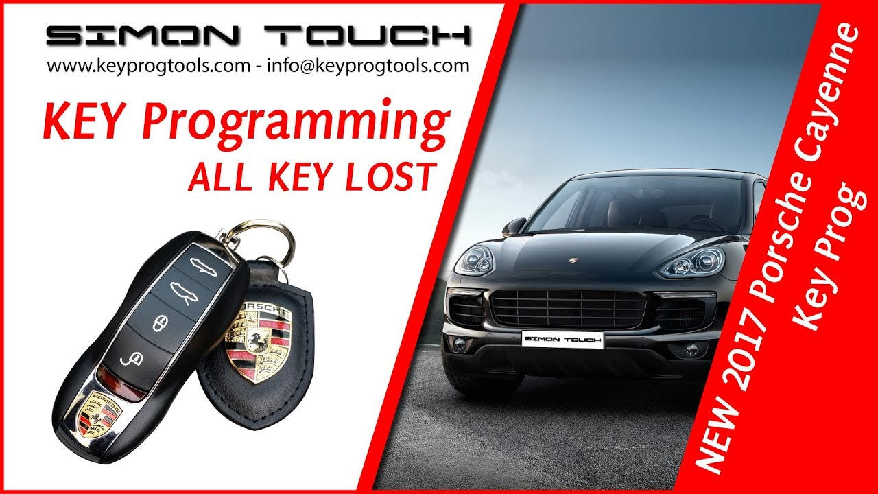 Porsche Cayenne Key All Lost Programming