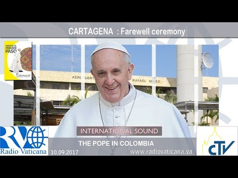 2017.09.11 Pope Francis in Colombia – Farewell ceremony