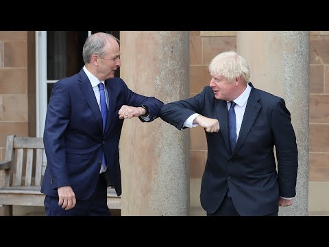 Boris Johnson talks up post-Brexit unity between UK and Ireland on Northern Ireland visit