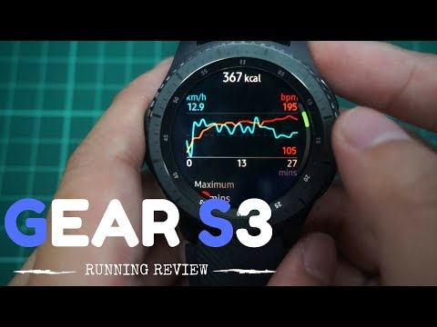 SAMSUNG GEAR S3 RUNNING REVIEW | SHOWING HOW THE RUNNING APP WORKS