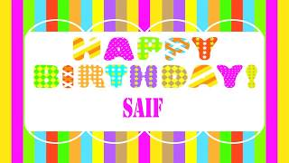 Saif   Wishes & Mensajes - Happy Birthday