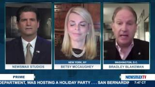 Newsmax Prime | Betsy McCaughey and Bradley Blakeman talk about how the media jumped on gun control