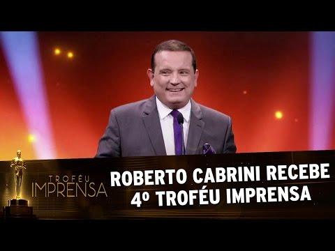 Troféu Imprensa 2017 - Roberto Cabrini recebe quarto Troféu Imprensa