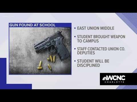 Loaded gun found at East Union Middle School