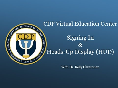CDP Second Life Signing In and Heads-Up Display Orientation