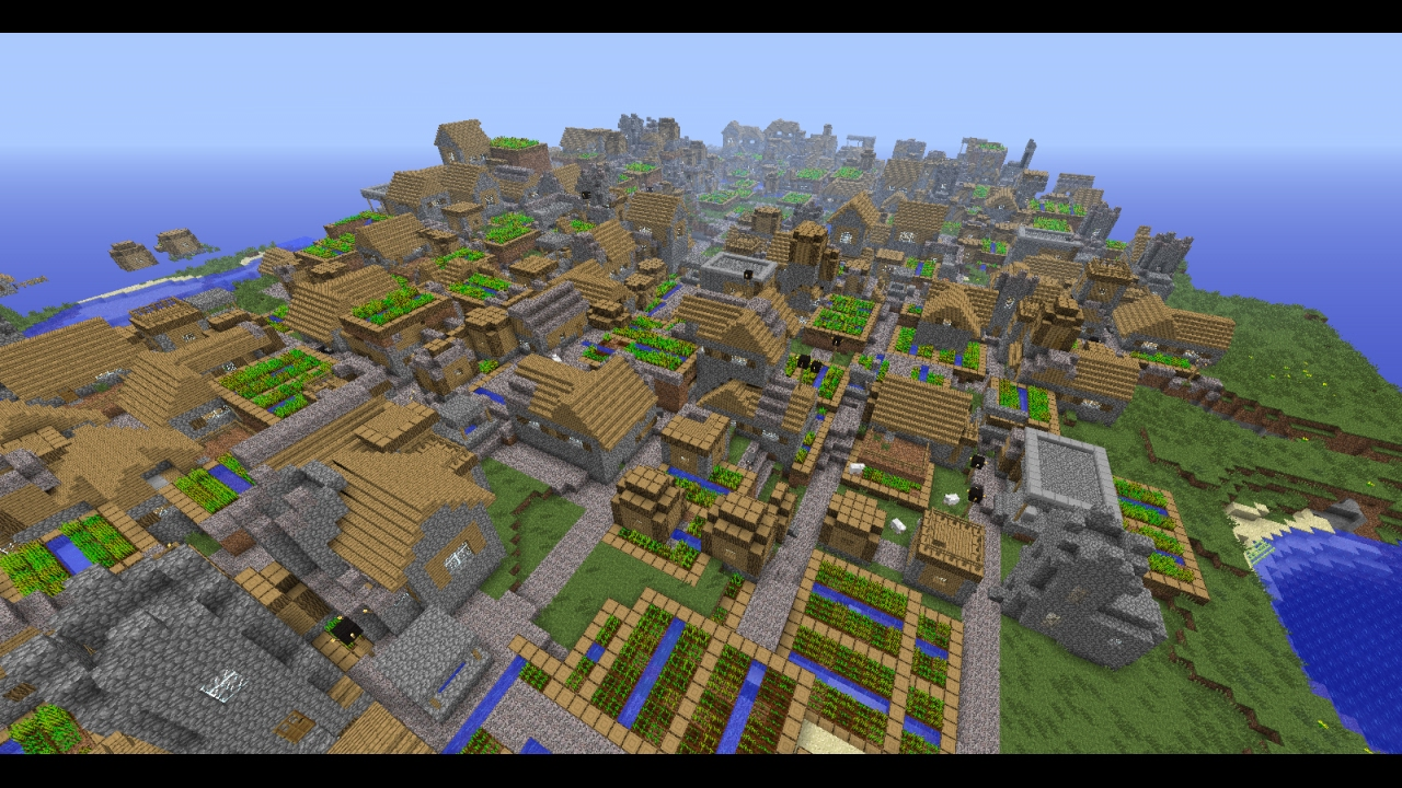 Minecraft Pe Seeds With Big Buildings
