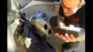 AAMAHB Ep 3. How to remove BMW S1000RR exhaust baffle.  DB test and first impressions