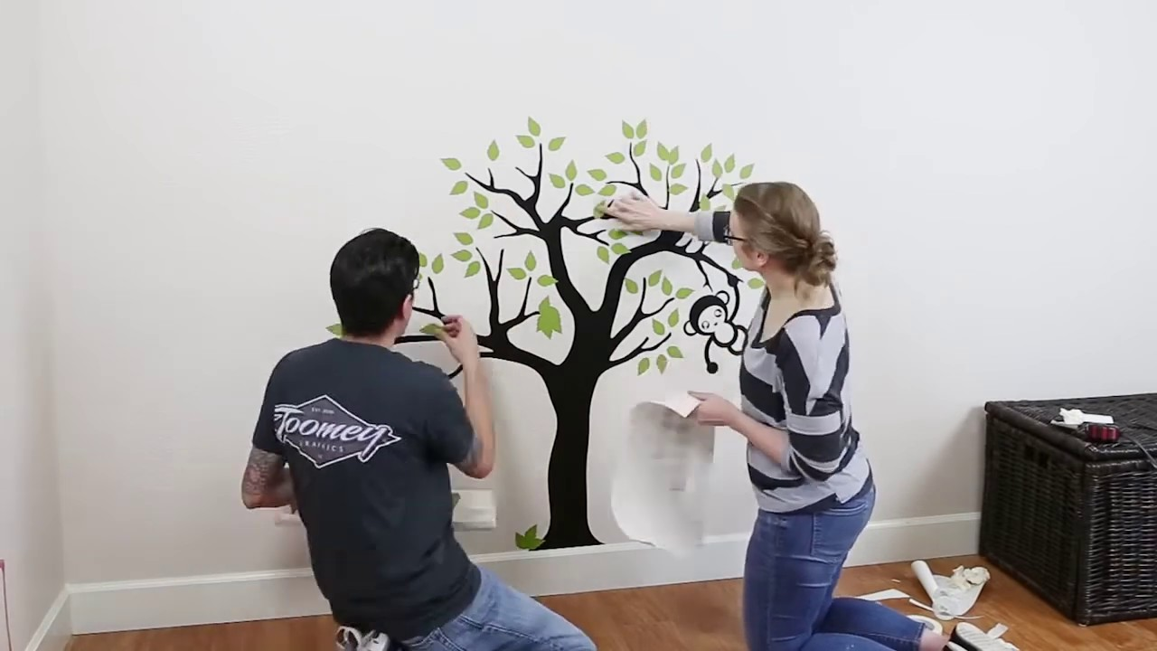 Cara Memasang Stiker Dinding Pohon