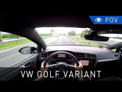 Volkswagen Golf Variant (FL) 2.0 TDI 150 KM Highline (2017) - POV Drive | Project Automotive